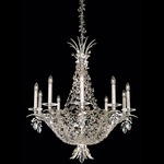 Amytis Multi Light Chandelier - Antique Silver  / Crystal