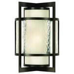 Singapore Moderne Outdoor Wall Light - Bronze / Off White