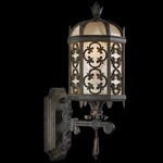 Costa Del Sol Outdoor Bottom Mount Wall Light - Marabella / Textured Iridescent