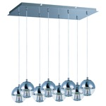 Reflex Island Pendant - Polished Chrome / Mirror