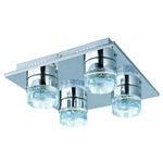 Fizz IV Flush Mount - Polished Chrome / Clear