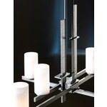 Ondrian Chandelier - Burnished Steel / Opal