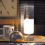 Lio Small Table Lamp - Nickel / White