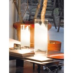 Lio Table Lamp - Nickel / White