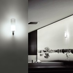 Lio Wall Lamp - Nickel / White