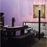 Smoking Floor Lamp - Nickel / Black