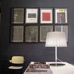 Cloth Table Lamp - Chrome / White Satin