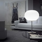 Lucciola Table Lamp - Nickel / White