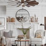 Prairie Indoor / Outdoor Ceiling Fan with Light -