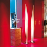 Shakti Floor Lamp - Satin / White