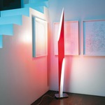 Shakti Floor Lamp - Satin / Red
