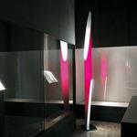 Shakti Floor Lamp - Satin / Fuchsia