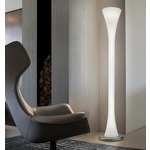 Lepanto Floor Lamp - Nickel / White