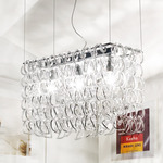 Giogali 3 Light Pendant - Crystal/ Chrome /