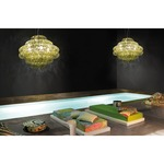 Ecos 90 Chandelier - Chrome / Multicolor