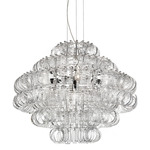 Ecos 90 Chandelier - Chrome / Chrome