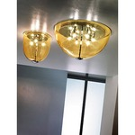 Dress Small Ceiling Flush Mount - Chrome / Topaz Transparent
