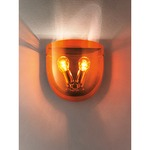 Dress Wall Light - Chrome / Orange