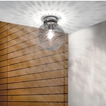 Bolle 10 inch Ceiling Flush Mount - Nickel / Crystal