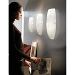 Marble Wall Lamp - Satin Nickel / White