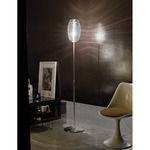Damasco Floor Lamp - Nickel / White