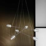 Damasco 6-light Pendant - Nickel / Crystal