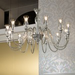 1020 One Tier Chandelier - Chrome / Clear