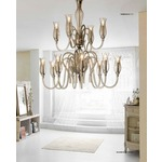 1022 Two Tier Chandelier - Chrome / Smoked