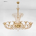 1460 One Tier Chandelier - Gold / Amber