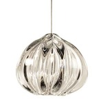 FJ Urchin Pendant  - Satin Nickel / Clear