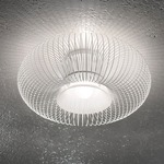 Spring Ceiling Light - Polished White  / Sanded Glass