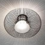 Spring Ceiling Light - Polished Black / Sanded Glass