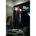 Spring Floor lamp - Satin / Chrome