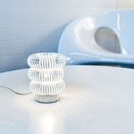 Spring Table Lamp - Chrome / Transparent