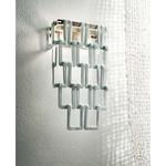 Tessuti Mini Wall Light - Satin Nickel / White
