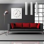 Vintage Floor Lamp - Grey / Red