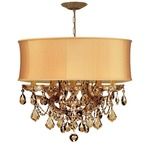 Brentwood Maria Theresa Chandelier - Antique Brass / Harvest Gold/ Golden Teak Swarovski