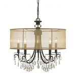 Hampton Chandelier - English Bronze /