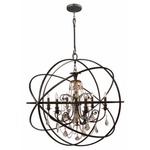 Solaris Large Chandelier with Golden Teak Crystals