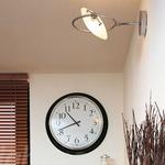 Nobi Large Wall Lamp - Chrome / White