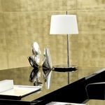 Passion Small Table Lamp - Chrome / White
