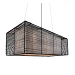 Kai Rectangular Outdoor Hanging Lamp -  / Brown