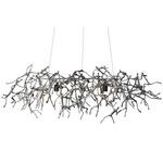 Little People Rectangular Outdoor Hanging Lamp - Silver /