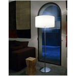 Aitana Floor Lamp - Metallic Lead / Beige