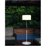 Harry Plus Floor Lamp - Stainless Steel / White