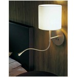 Hotel Python Wall Light - Matte Nickel / White
