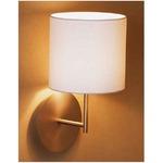 Hotel Wall Light - Matte Nickel / White