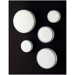 Jacky Ceiling Light - Metallic Grey / White Glass