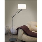 Lektor Floor Lamp - Stone Grey / White
