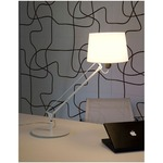 Lektor Table Lamp - White / White